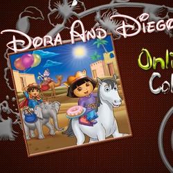 Fesd ki Dórát és Diégót a lovon és az elefánton! 28 szín közül választhatsz  és ha akarod ki is nyomtathatod művedet! dc1a29c5fd